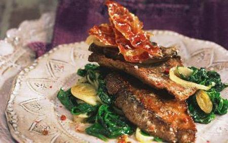 fegato con spinaci