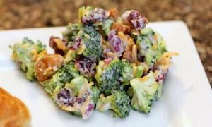 brokolicovy salat s brusinkami