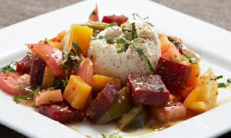 salat s pecenou cervenou repou