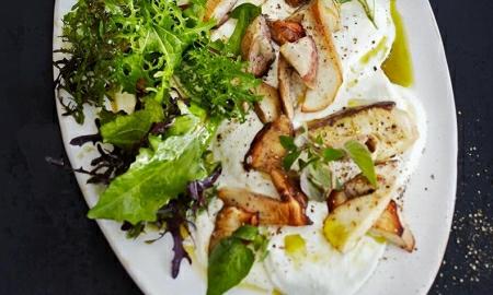 houby s mozzarellou a bylinkovou zalivkou